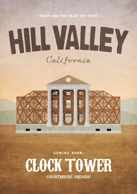 Cool Art: Back To The Future Travel Posters by Dean Walton