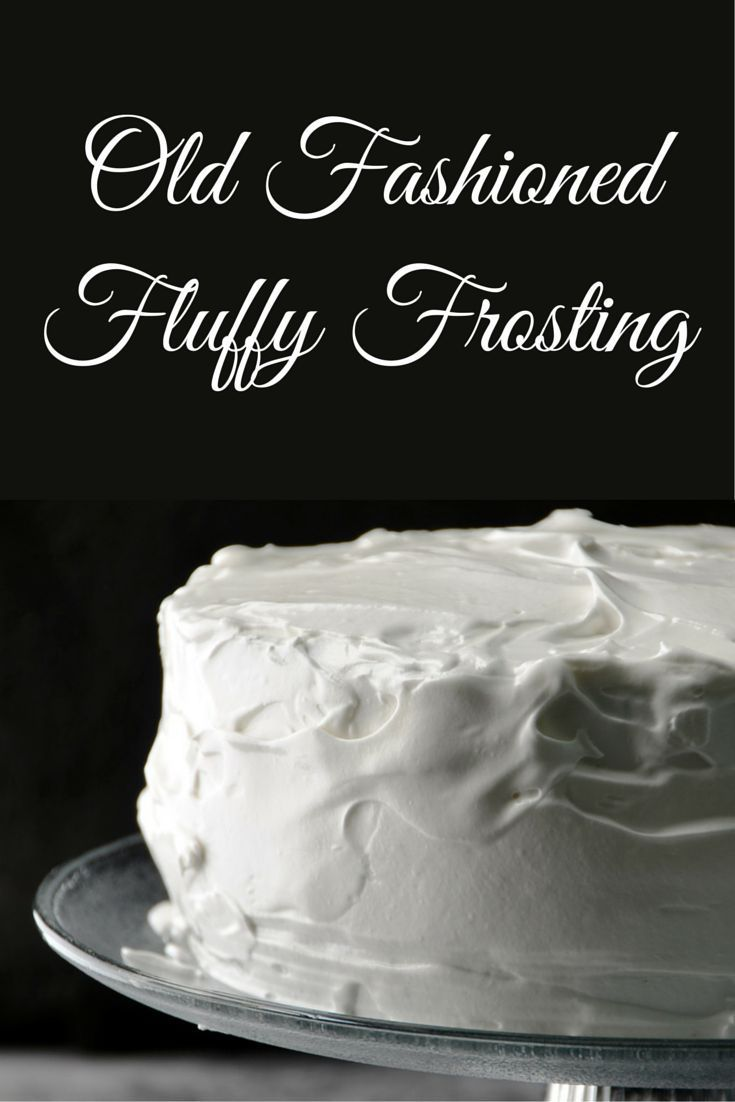 Old Fashioned Fluffy Frosting, takes about 10 minutes to make, and is light, fluffy, and pure white.