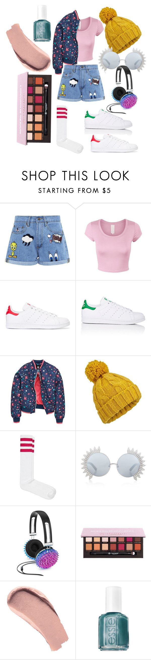 """#10"" by matilda-key on Polyvore featuring Paul & Joe Sister, adidas Originals, adidas, Miss Selfridge, American Apparel, Linda Farrow, Celebrate Shop, Burberry and Essie"