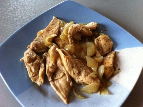 piept de pui cu ceapa   Dieta Dukan