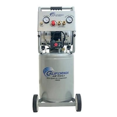 Vertical Air Compressor Ultra Quiet Oil Free Steel Tank Pump 125psi 2hp 10gal