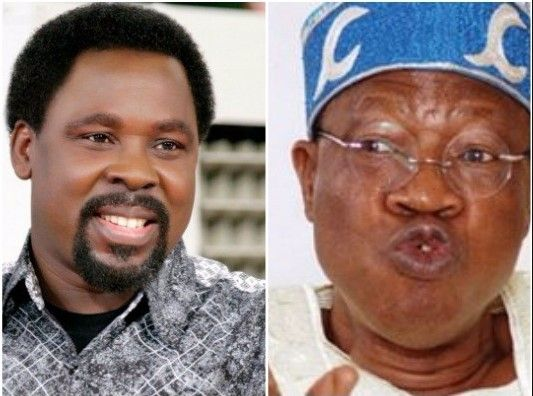 "Through the Minister Information and Culture, Lai Mohammed, The Federal government on Tuesday appealed the founder of Synagogue Church of All Nations (SCOAN), Prophet Temitope Balogun Joshua popularly known as ""TB Joshua"" to reconsider his decision to relocate from Nigeria,   #News #TB Joshua"