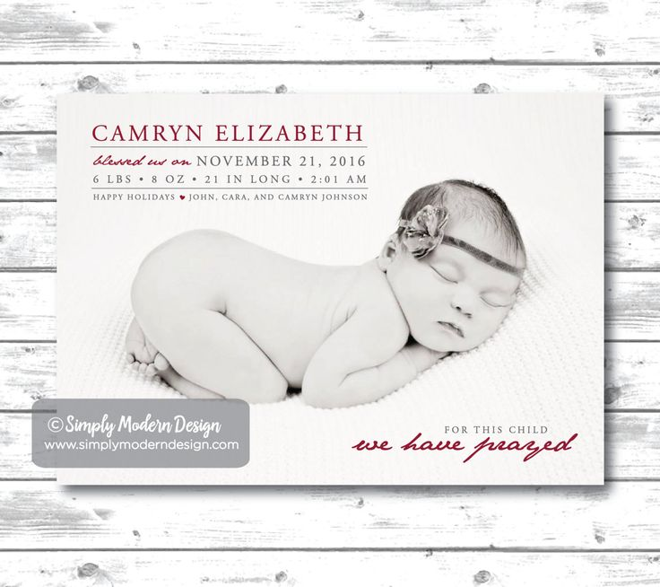 17 best ideas about Holiday Birth Announcement – New Years Birth Announcements