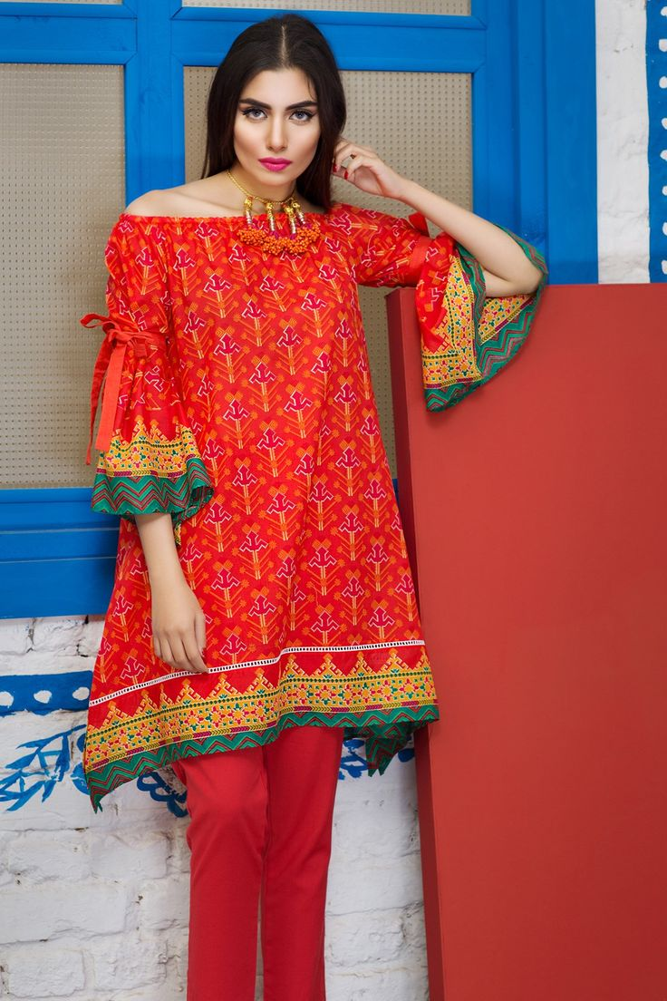 Khaadi J17202 Red Lawn 2017 Vol 1 Unstitched
