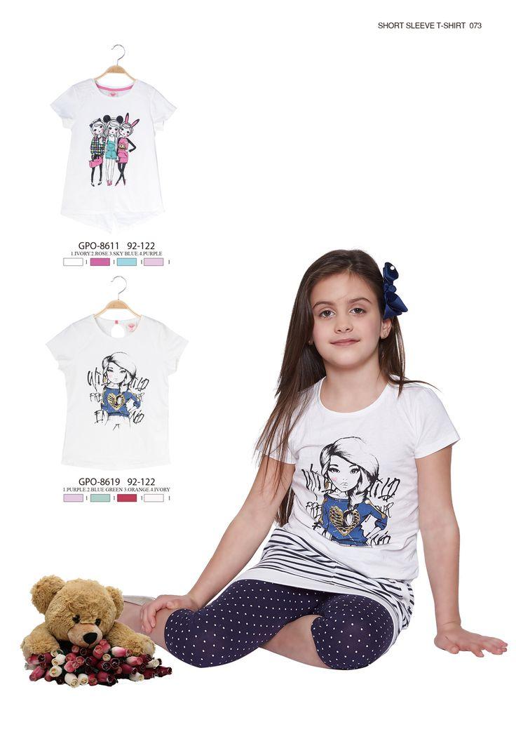 Little girls' cute little T-shirts  #glostory #fashion #forgirls #ss15 #cute #clothing #fashion #dress #tshirt #printedtshirt #girl