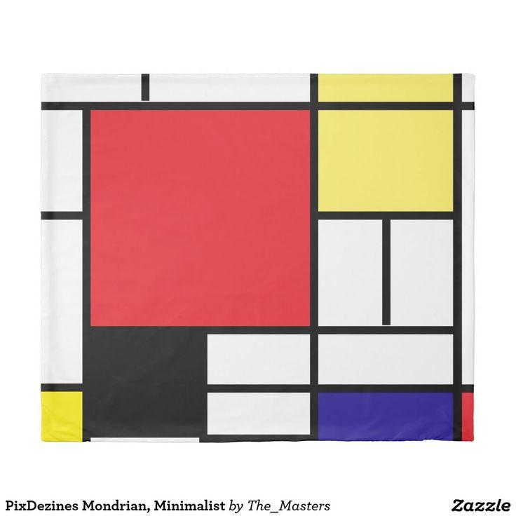 PixDezines Mondrian, Minimalist Duvet Cover