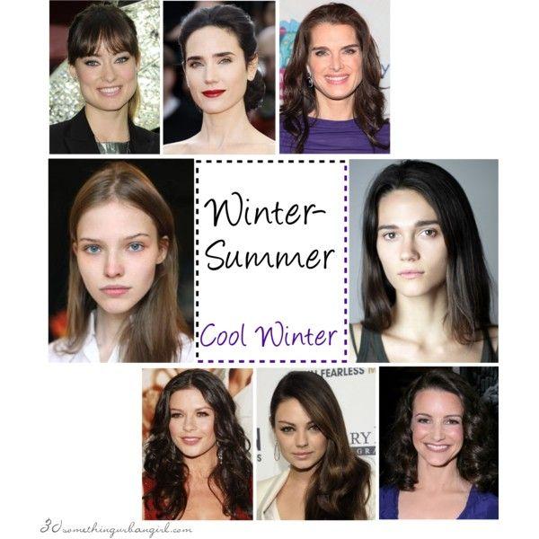 Winter Summer Seasonal Coloring Cool Winter Celebrity By