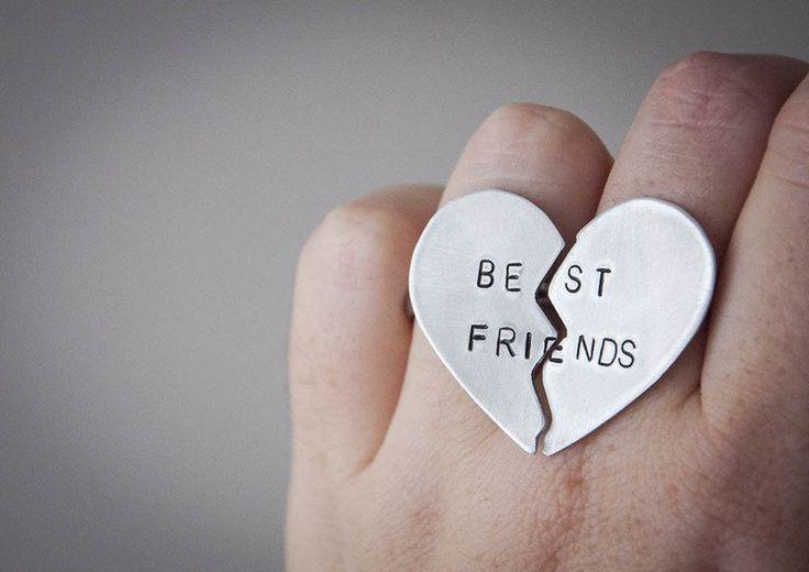 Anelli dell'amicizia - Coppia di anelli Best Friends da cuore spezzato - un prodotto unico di SilviaWithLove su DaWanda