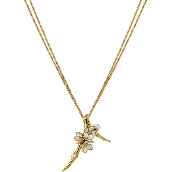 Shaun Leane Cherry Blossom long pendant necklace - Metallic zHVmz