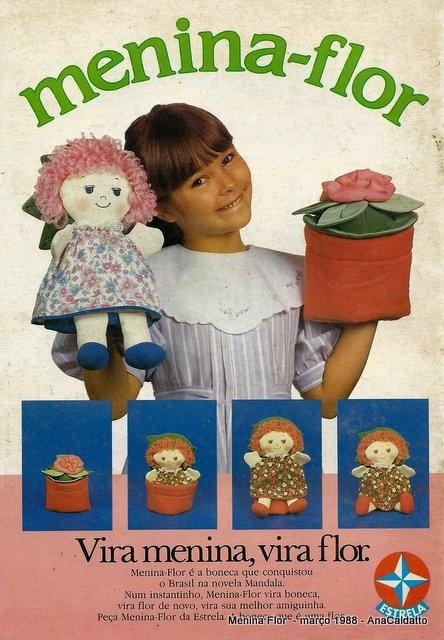 Boneca Menina-Flor