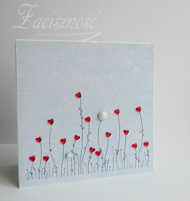 Ręcznie robiona kartka ślubna/ Handmade wedding card