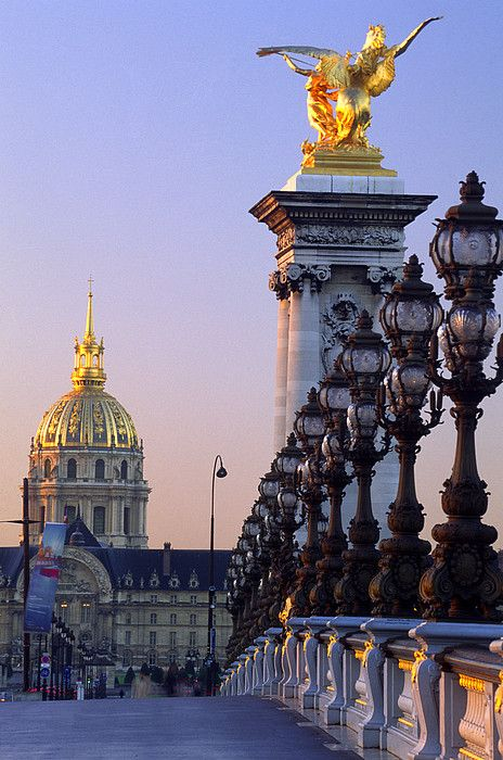 Pont Alexandre III n Hotel des Invalides, Paris_ France #travel #destination #paris #france