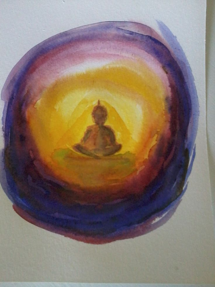 buddha watercolour