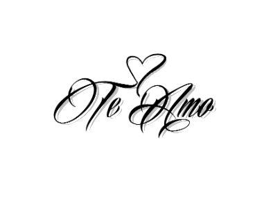 Te Amo Temporary Tattoo