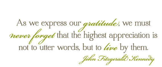 thanksgiving quote jfk