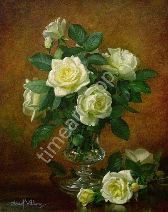 "Albert Williams ""Сюита белых роз"" картина раскраска по номерам, размер 40*50см, цена 750 руб"