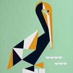 Geometric animal silkscreen posters