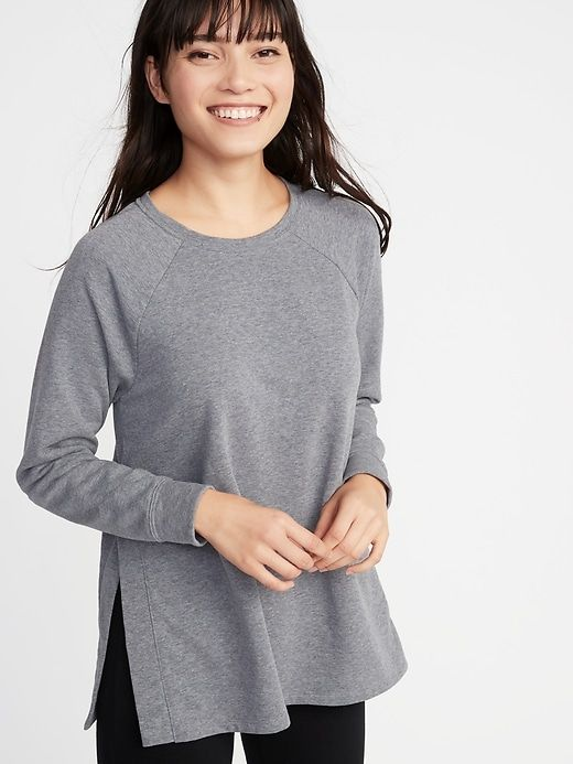 9b7b25c16c2db Maternity French Terry Side-Slit Nursing Sweatshirt | Wishlist ...