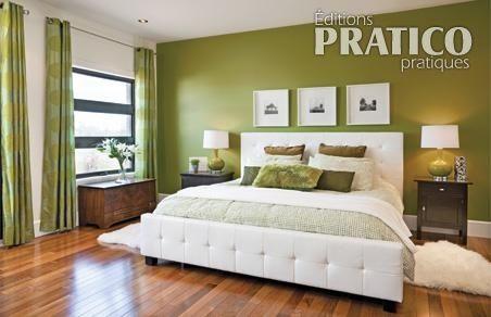 Chambre en vert et blanc - Chambre - Inspirations - Décoration et rénovation - Pratico Pratique