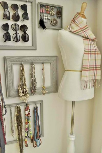 Frames make excellent storage and display cases. Good idea!