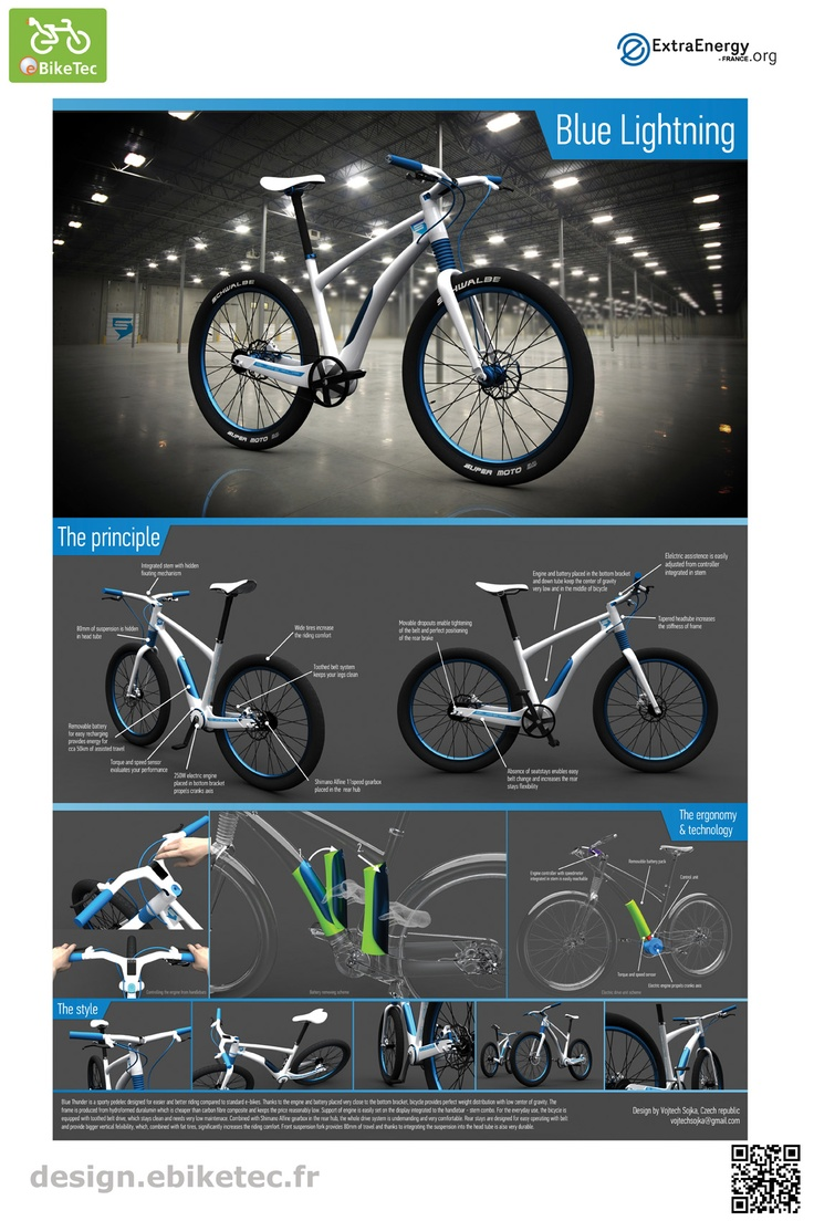 eBikeTec design contest category : Blue-Lightning by Vojtech SOJKA