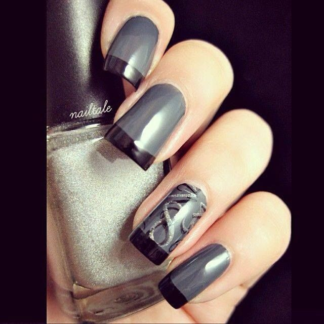 103 best Nail Art Design images on Pinterest | Nail scissors, Black ...