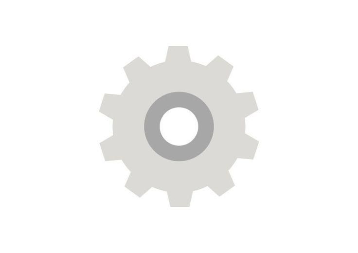 Flat Gear Vector Icon
