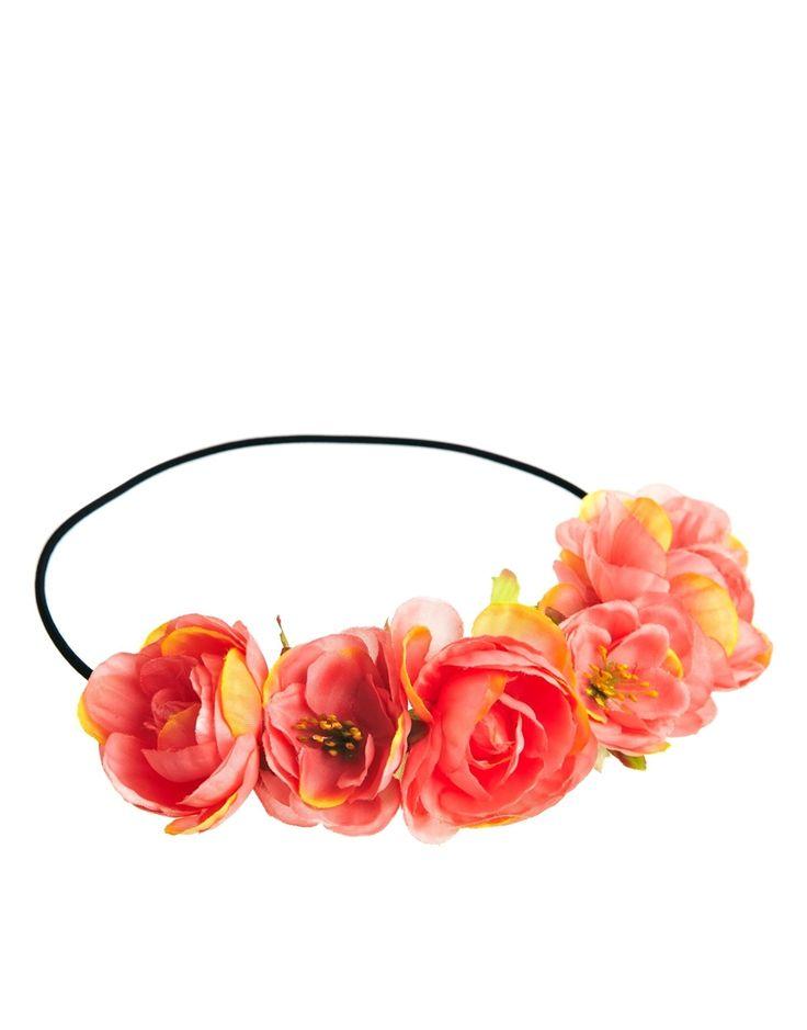 Ghirlanda per capelli con fiori esotici