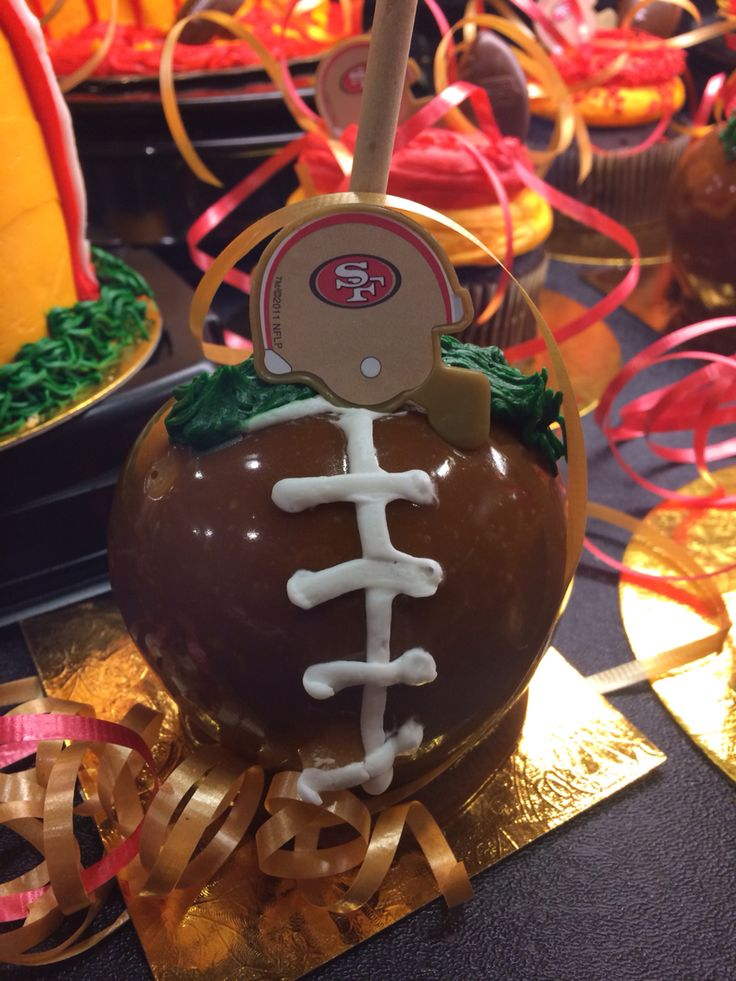 Candied Apple Football