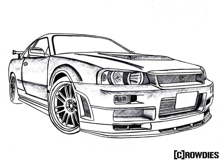 #drawing #crowdies #gtr Car drawings Nissan skyline