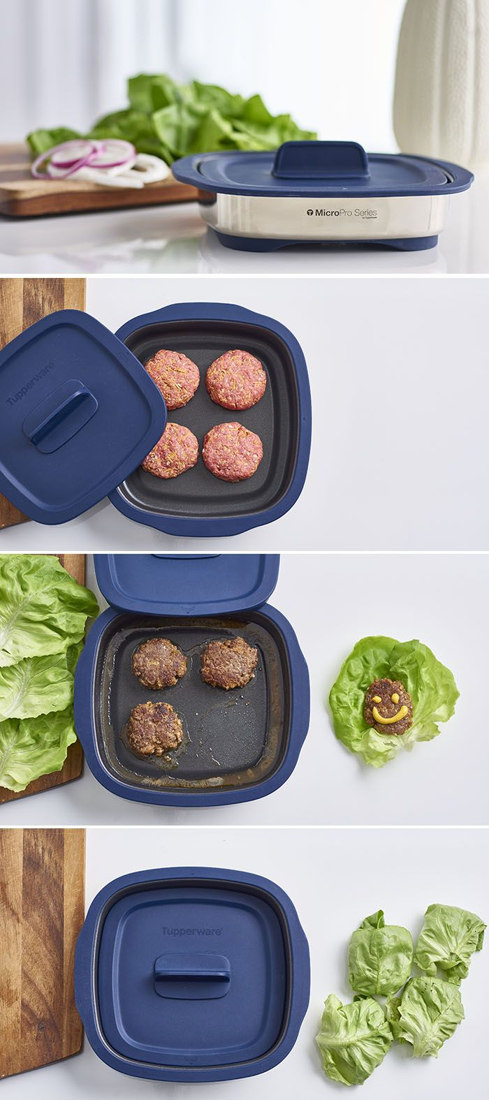 Slide into mealtime with Grilled Lettuce Wrap Sliders that sizzle from microwave to table.