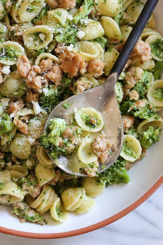 Orecchiette Pasta With Chicken Sausage and Broccoli