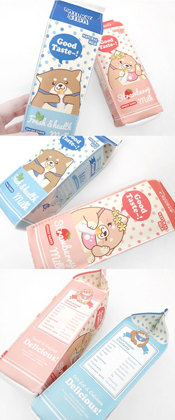 The Shiba Inu Milk Pouch is a lovely pen case to carry many writing utensils! The cute Shiba Inu illustrations and the unique milk carton design also make this pouch a wonderful gift!