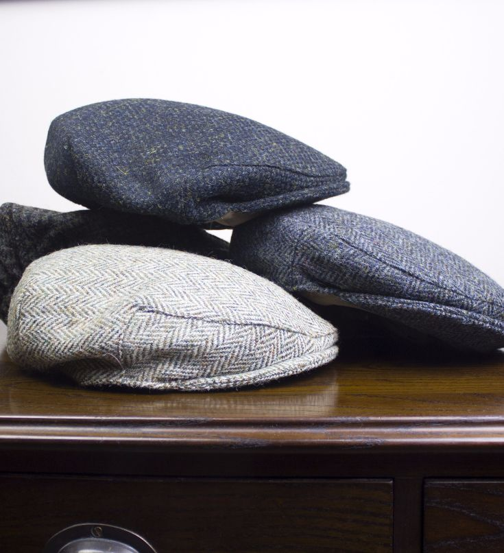 These Harris Tweed caps are traditional, yet stylish. Designed to endure the cold Scottish weather, they also have an elasticated back to fit all sizes!