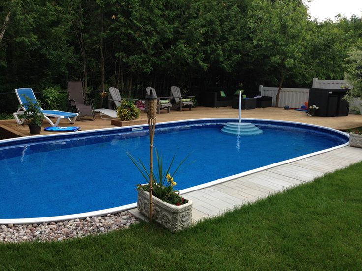 25 best ideas about semi inground pools on pinterest for Above ground pool decks las vegas