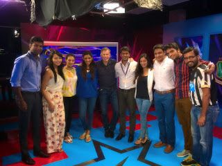kalyan Chaubey: Me with the experts of Star Sports