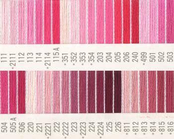 コスモ刺繍糸 刺しゅう糸#25番糸 ピンク系