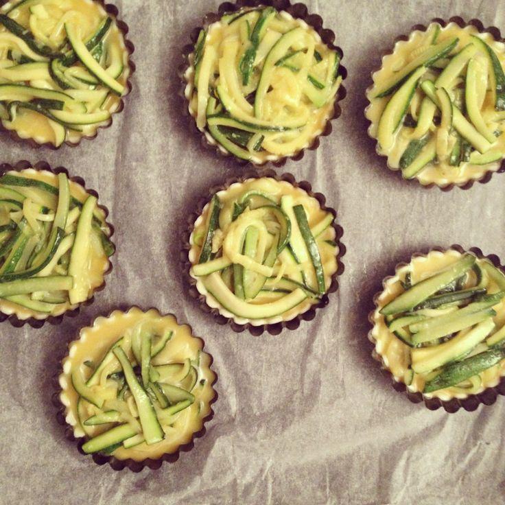 Mini quiche con zucchine