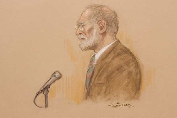 Court drawing of Dr Harold Shipman