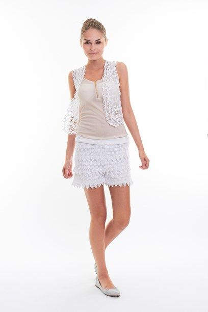 TAJSA VEST - Obsession item, shear crochet west with pattern.