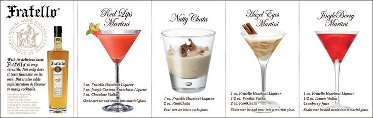 Delicious drink recipes using Fratello Hazelnut Liqueur
