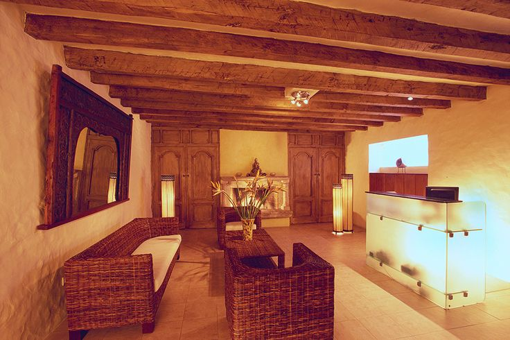 Spa reception...a relaxing place to start your journey in Villa Montaña