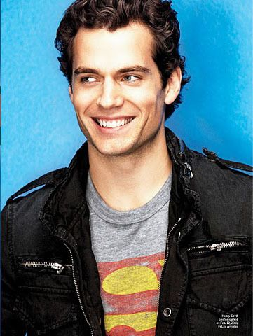 so yeah superman man of steel's Henry Cavill is pretty attractive