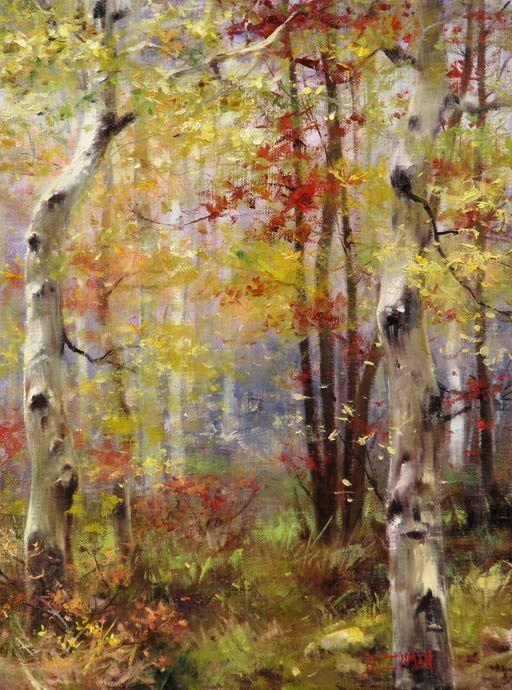 Autumn Sentries   16x12   sold   Meyer Gallery