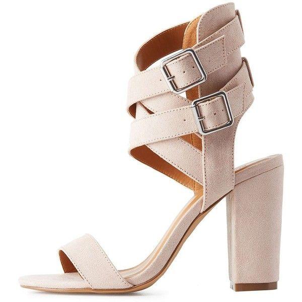 Charlotte Russe Double Buckle Ankle Wrap Dress Sandals (2 ea59363753c