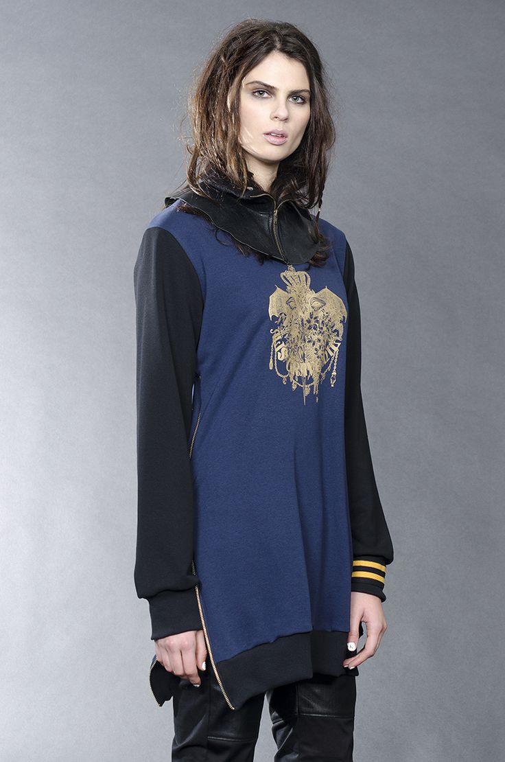 Jane Sutherland Winter 2016 - Nirvana zip sweatshirt