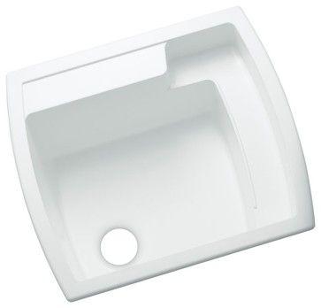 Sterling by Kohler Latitude 995 Single Basin Drop In Utility Sink - 995-0 - contemporary - Utility Sinks