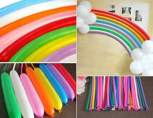 Arcobaleno con palloncini