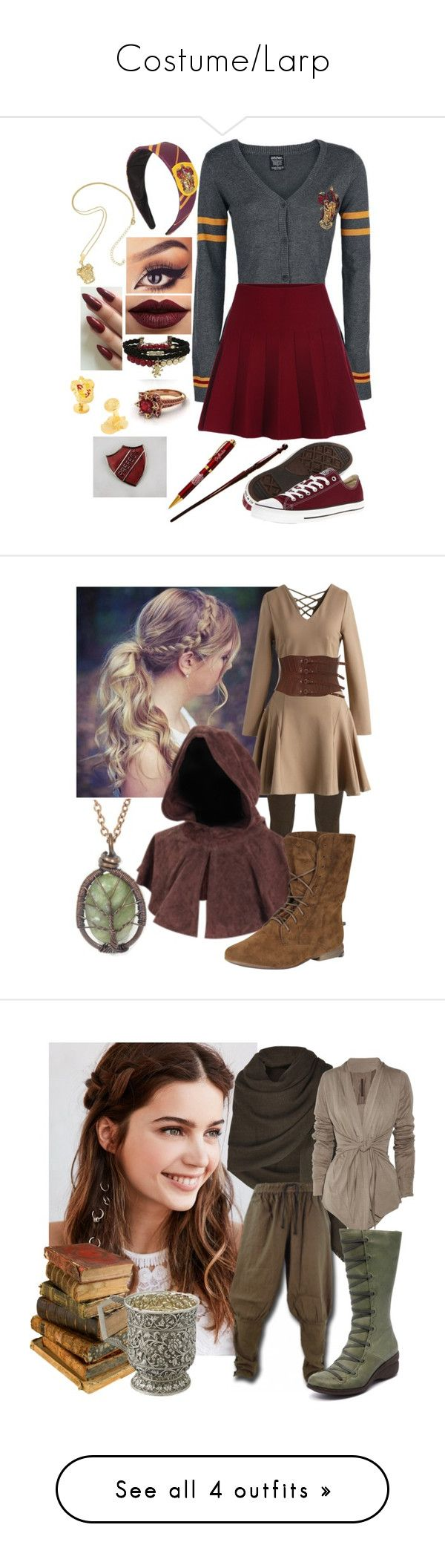 """""""Costume/Larp"""" by amy-yvar-fawn ❤ liked on Polyvore featuring LASplash, Converse, Cufflinks, Inc., Polo Ralph Lauren, Chicwish, Breckelle's, REGALROSE, Bamford, Braun and Rick Owens Lilies"""
