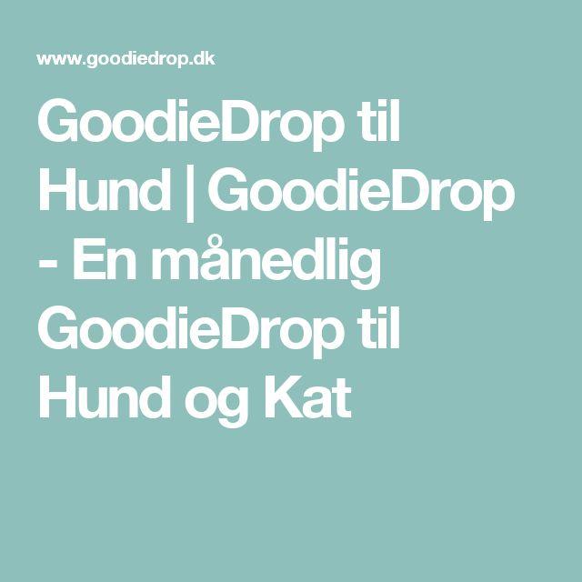 GoodieDrop til Hund   GoodieDrop - En månedlig GoodieDrop til Hund og Kat